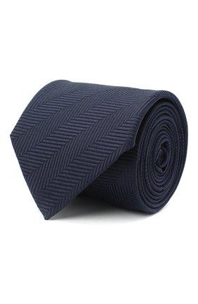 Мужской шелковый галстук BOSS синего цвета, арт. 50441679 | Фото 1