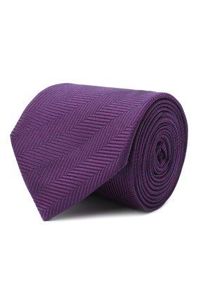 Мужской шелковый галстук BOSS фиолетового цвета, арт. 50441679 | Фото 1