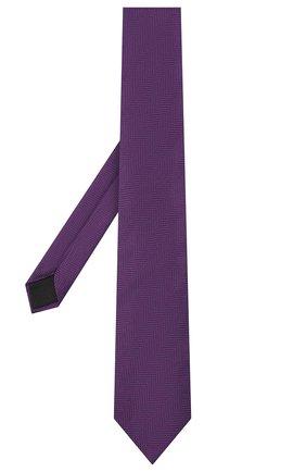 Мужской шелковый галстук BOSS фиолетового цвета, арт. 50441679 | Фото 2