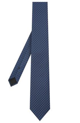 Мужской шелковый галстук BOSS темно-синего цвета, арт. 50442358 | Фото 2