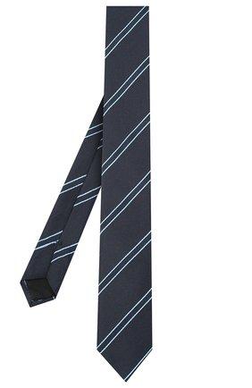 Мужской шелковый галстук BOSS темно-синего цвета, арт. 50441820 | Фото 2