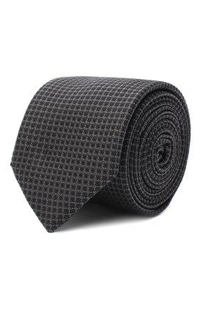 Мужской шелковый галстук BOSS темно-коричневого цвета, арт. 50442089 | Фото 1