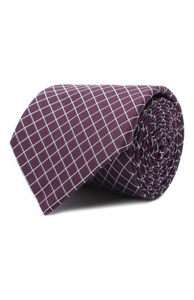 Мужской шелковый галстук BOSS бордового цвета, арт. 50442358 | Фото 1