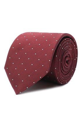 Мужской галстук BOSS красного цвета, арт. 50442794 | Фото 1
