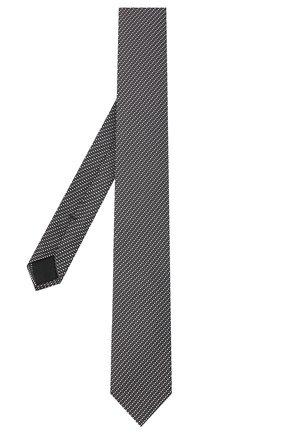 Мужской шелковый галстук BOSS коричневого цвета, арт. 50442089 | Фото 2