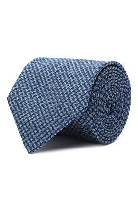 Мужской шелковый галстук BOSS синего цвета, арт. 50441780 | Фото 1