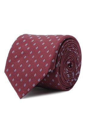 Мужской шелковый галстук BOSS бордового цвета, арт. 50441607 | Фото 1