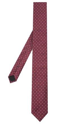 Мужской шелковый галстук BOSS бордового цвета, арт. 50441607 | Фото 2