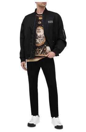 Мужская хлопковая футболка DOLCE & GABBANA черного цвета, арт. I8445M/HI7FB | Фото 2
