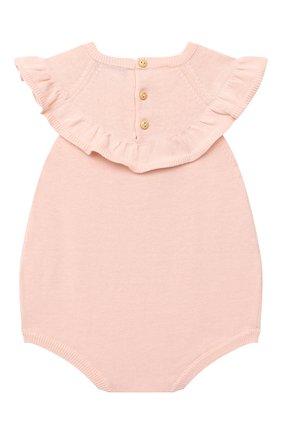 Детское хлопковое боди LES LUTINS розового цвета, арт. 20E053/JULIE | Фото 2