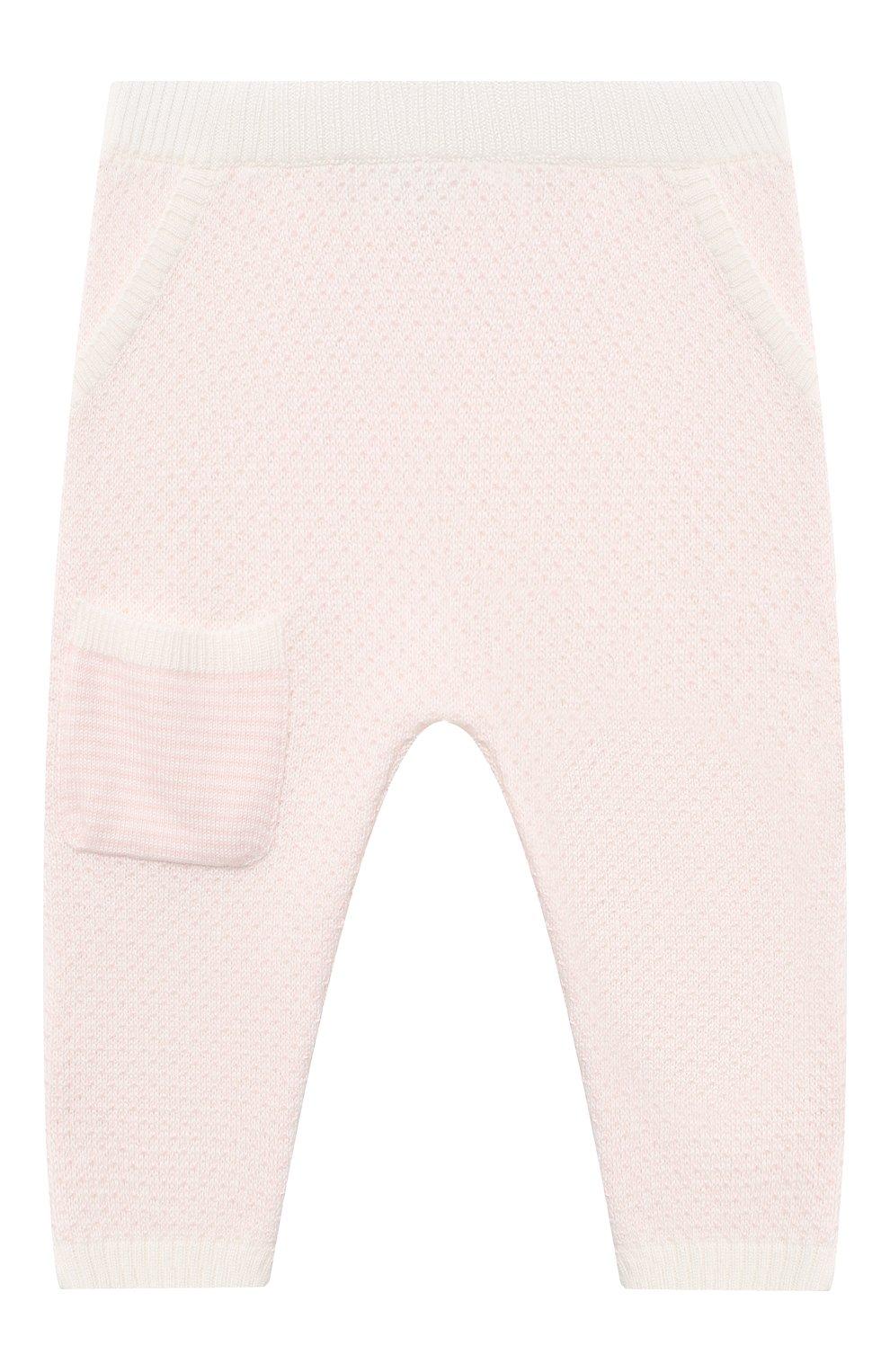 Детские кашемировые джоггеры LORO PIANA светло-розового цвета, арт. FAI6022 | Фото 1