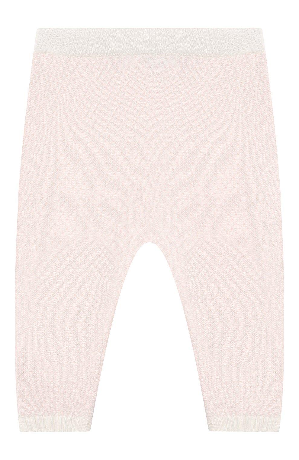 Детские кашемировые джоггеры LORO PIANA светло-розового цвета, арт. FAI6022 | Фото 2