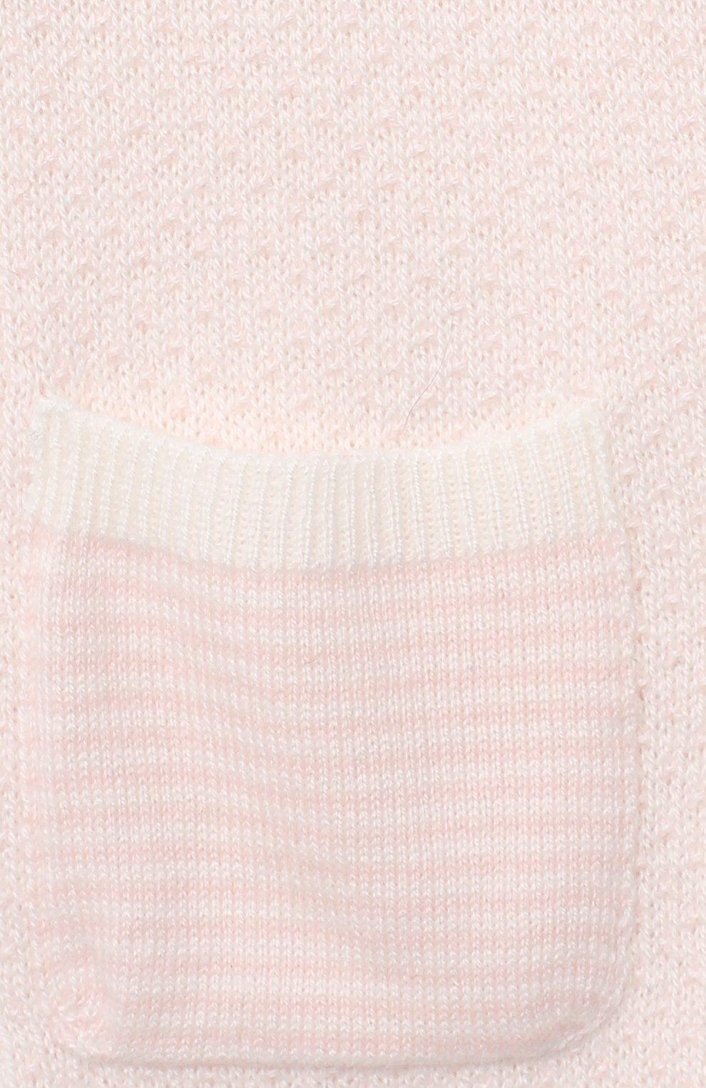 Детские кашемировые джоггеры LORO PIANA светло-розового цвета, арт. FAI6022 | Фото 3