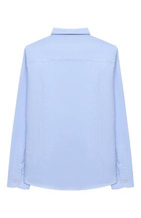 Детская хлопковая рубашка PAOLO PECORA MILANO голубого цвета, арт. PP2407/8A-12A | Фото 2