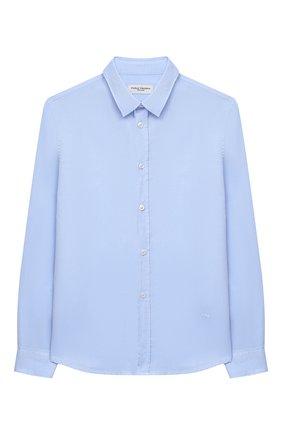 Детская хлопковая рубашка PAOLO PECORA MILANO голубого цвета, арт. PP2407/14A-16A | Фото 1