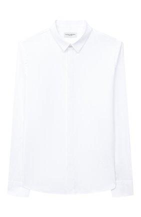 Детская хлопковая рубашка PAOLO PECORA MILANO белого цвета, арт. PP2451/14A-16A | Фото 1