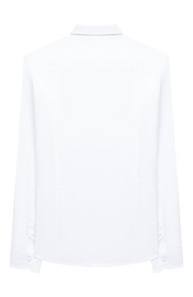 Детская хлопковая рубашка PAOLO PECORA MILANO белого цвета, арт. PP2454/8A-12A | Фото 2