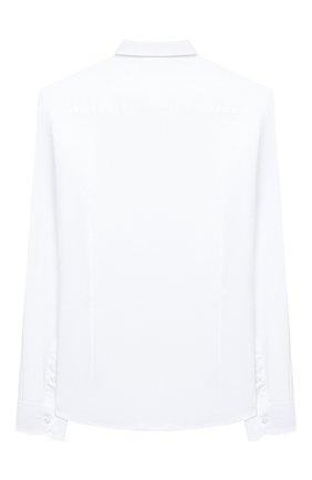Детская хлопковая рубашка PAOLO PECORA MILANO белого цвета, арт. PP2454/14A-16A | Фото 2