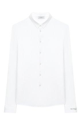 Детская хлопковая рубашка PAOLO PECORA MILANO белого цвета, арт. PP2462/8A-12A | Фото 1
