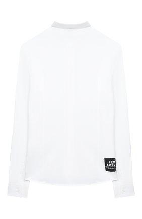 Детская хлопковая рубашка PAOLO PECORA MILANO белого цвета, арт. PP2462/8A-12A | Фото 2