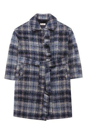 Детское пальто MONNALISA синего цвета, арт. 716105   Фото 1