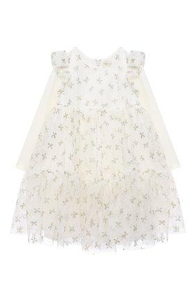 Женский платье MONNALISA белого цвета, арт. 736902 | Фото 1