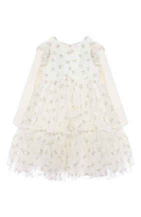 Женский платье MONNALISA белого цвета, арт. 736902 | Фото 2