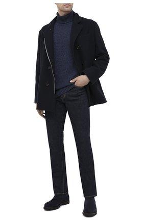 Мужские замшевые челси BRUNELLO CUCINELLI темно-синего цвета, арт. MZUNETG853 | Фото 2