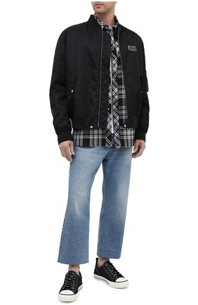 Мужские текстильные кеды VALENTINO черного цвета, арт. UY2S0D57/MBU | Фото 2