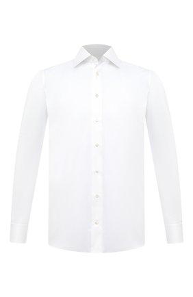 Мужская хлопковая сорочка ZILLI белого цвета, арт. MFU-10715-0299/0009 | Фото 1