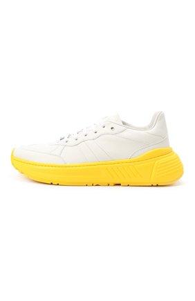 Мужские кожаные кроссовки BOTTEGA VENETA желтого цвета, арт. 565646/VT040 | Фото 3 (Материал внешний: Кожа; Материал внутренний: Натуральная кожа; Стили: Гранж; Подошва: Массивная)
