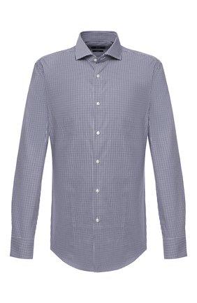 Мужская хлопковая сорочка BOSS темно-синего цвета, арт. 50433440 | Фото 1