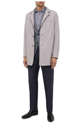 Мужская хлопковая сорочка BOSS темно-синего цвета, арт. 50433440 | Фото 2