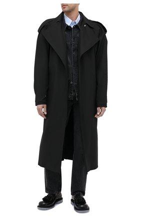 Мужские кожаные лоферы BOTTEGA VENETA черного цвета, арт. 632509/VBS30 | Фото 2