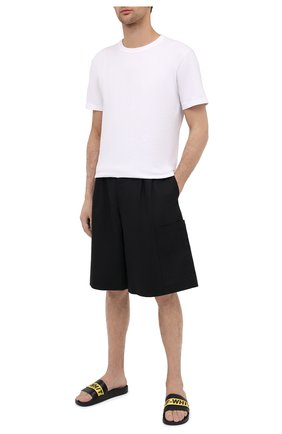 Мужские шлепанцы OFF-WHITE черного цвета, арт. 0MIA088E20FAB0041018 | Фото 2
