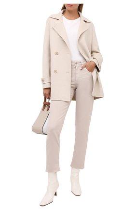 Женские джинсы BRUNELLO CUCINELLI бежевого цвета, арт. MPH43P5524 | Фото 2