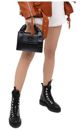 Женская сумка jitney OFF-WHITE черного цвета, арт. 0WNA115E20LEA0021000 | Фото 2