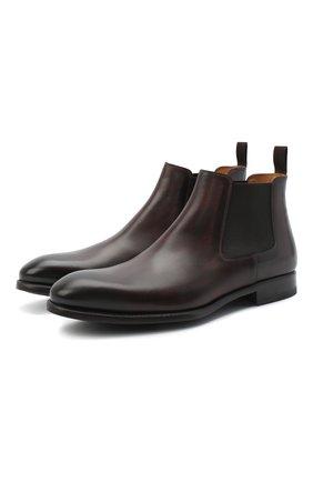 Мужские кожаные челси MAGNANNI темно-коричневого цвета, арт. 23337/B0LTILUX | Фото 1