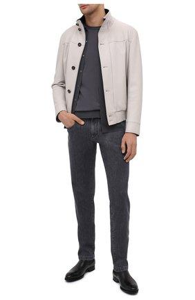 Мужские кожаные челси MAGNANNI черного цвета, арт. 23337/B0LTILUX | Фото 2