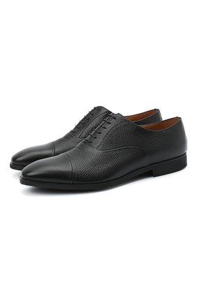 Мужские кожаные оксфорды STEMAR черного цвета, арт. 90228550B0001 | Фото 1