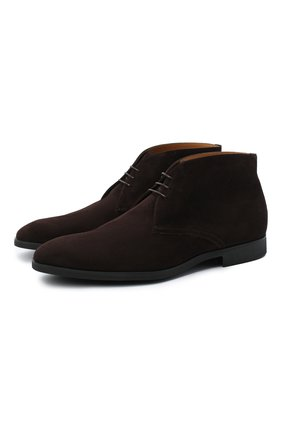 Мужские замшевые ботинки STEMAR темно-коричневого цвета, арт. 90228567B0001 | Фото 1
