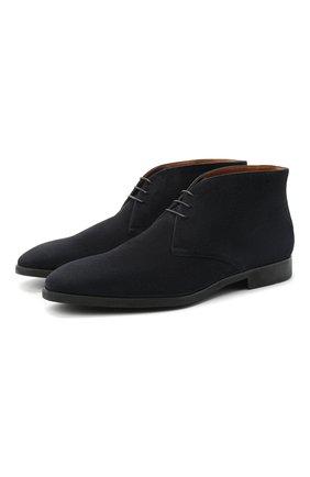 Мужские замшевые ботинки STEMAR темно-синего цвета, арт. 90228567D0001 | Фото 1
