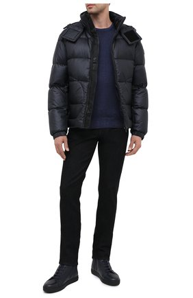 Мужские кожаные кеды MORESCHI темно-синего цвета, арт. 43182/CQ/CERV0/F.PELLICCIA | Фото 2