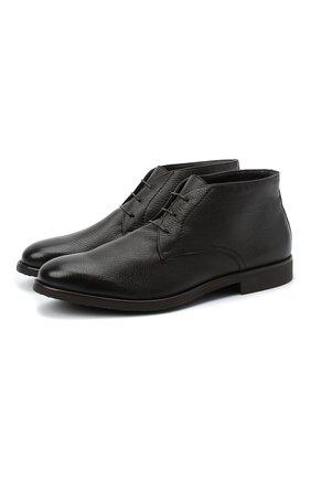 Мужские кожаные ботинки MORESCHI темно-коричневого цвета, арт. 43568/162/CERV0/F.PELLICCIA | Фото 1