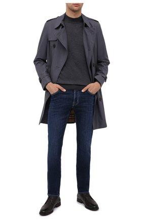 Мужские кожаные ботинки MORESCHI темно-коричневого цвета, арт. 43568/162/CERV0/F.PELLICCIA | Фото 2