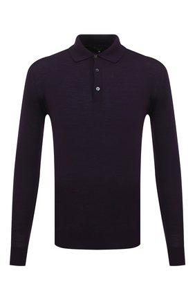 Мужское шерстяное поло LORO PIANA фиолетового цвета, арт. FAI2551 | Фото 1