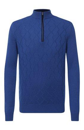 Мужской кашемировый джемпер ZILLI синего цвета, арт. MBU-CZ214-CASH1/ML01 | Фото 1