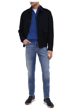 Мужской кашемировый джемпер ZILLI синего цвета, арт. MBU-CZ214-CASH1/ML01 | Фото 2