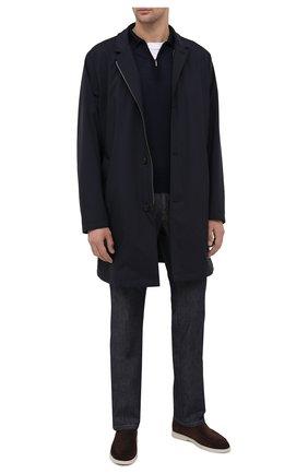 Мужское поло из кашемира и шелка ZILLI темно-синего цвета, арт. MBU-PZ012-NECL1/ML01 | Фото 2