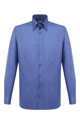 Мужская сорочка из кашемира и шелка ZILLI синего цвета, арт. MFU-00503-87060/0001 | Фото 1